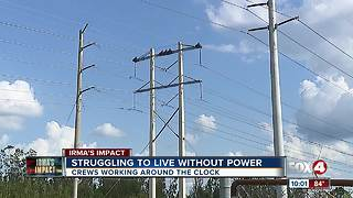FPL working around the clock to restore power after Hurricane Irma - Video