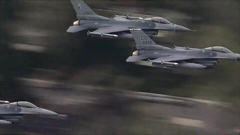 Colorado National Guard F-16s perform flyover to honor frontline workers