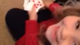 Little Girl Caught Cheating at Go Fish - Video