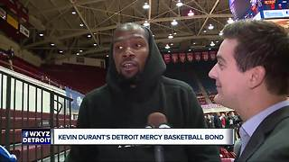 Kevin Durant's Detroit Mercy Basketball bond - Video