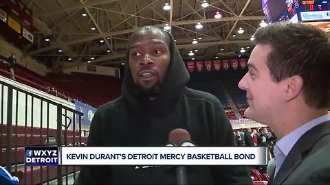 Kevin Durant's Detroit Mercy Basketball bond
