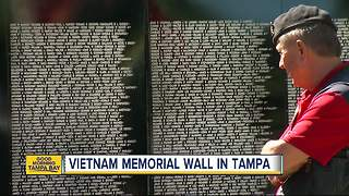 Stunning traveling replica of Vietnam Memorial Wall in Tampa this weekend - Video