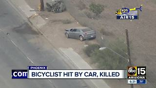 Bicyclist who was hit by a car in Phoenix has died - Video