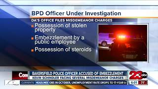 Bakersfield Police officer accused of embezzlement - Video