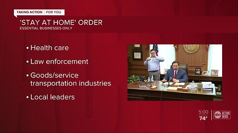 Gov. DeSantis issues 'safer-at-home' order directing residents to 'limit movements' to essential activities