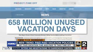 Employees get paid to take a vacation - Video