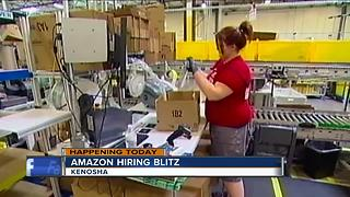 Amazon goes on hiring blitz in Kenosha - Video