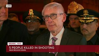 Governor Evers gives an update on Molson Coors shooting