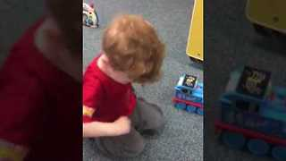 Adorable Boy Rocks Out With Thomas the Tank Engine - Video