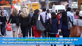 May unemployment rate is 13.3%, significantly lower than predicted