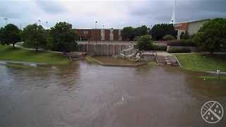 Drone Footage Shows Extent of Wichita Flooding - Video