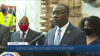 Buffalo Mayor Byron Brown addresses police reforms in the city