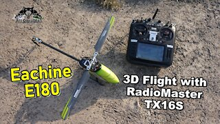 Eachine E180 Direct Drive RC Helicopter with RadioMaster TX16S