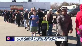 Free Little Caesars Pizza on Monday after March Madness upset - Video