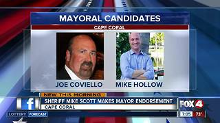 Sheriff Mike Scott makes unexpected mayoral endorsement - Video