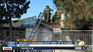 Fire erupts at vacant business in Hillcrest