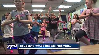 West Ada students trade recess for yoga - Video