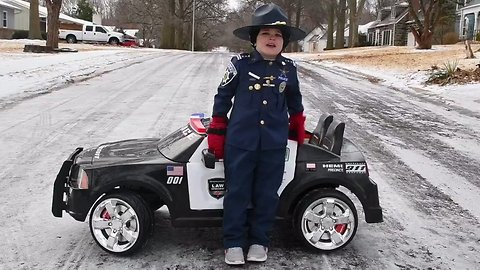 Cute Kansas 'Trooper' Serves Up Warning About Driving in Icy Conditions