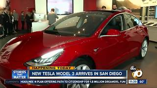 Tesla Model 3 arrives in San Diego