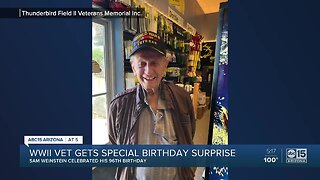 WWII veteran gets special birthday surprise