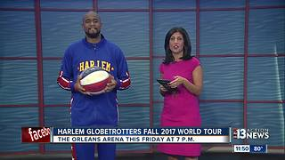 Harlem Globetrotters' World Tour stops at The Orleans Arena - Video