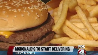 McDonald's to soon deliver - Video