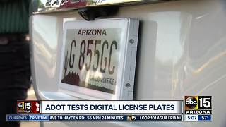 ADOT testing digital license plates in Arizona - Video