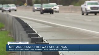 Michigan State Police address freeway shootings