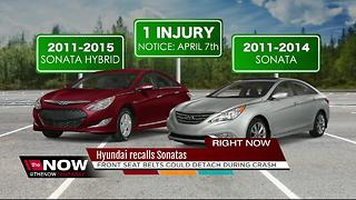 Hyundai recalls 978,000 cars; seat belts can come loose - Video
