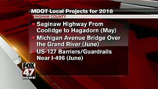 Construction projects planned for 2018