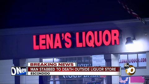 Man stabbed to death during fight outside Escondido liquor store