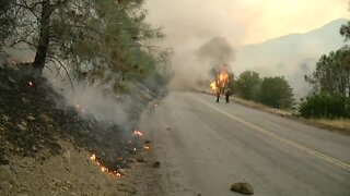 Crews continue to battle the Stagecoach Fire