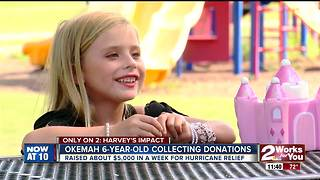 Local 6-year-old gives savings to Harvey victims - Video