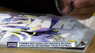 Former Michigan captain Mike McCary retires from football - Video