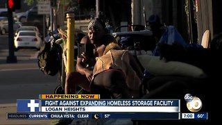 Fight against expanding homeless storage facility