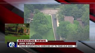 Homicide investigation underway in Ann Arbor after 76-year-old man found dead - Video