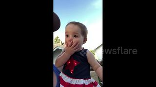 Toddler has most dramatically adorable reaction to fireworks - Video