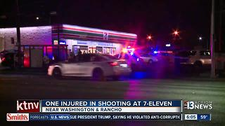 Homeless man caught in crossfire at local 7-Eleven - Video