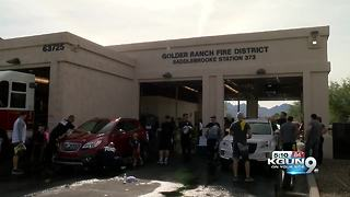 Car wash raises money for firefighters with cancer - Video