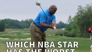 Which NBA Star Has The Worst Golf Swing? - Video