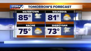 Scattered thunderstorms and weekend heat - Video