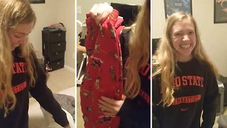 Hilarious reaction as girl gets same Christmas present every year