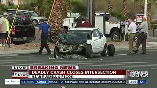 Deadly crash near Russell, Pecos roads - Video