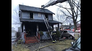 Firefighters respond to burning home on East 113th Street