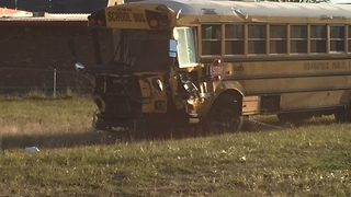 3 hurt after IPS school bus crash - Video