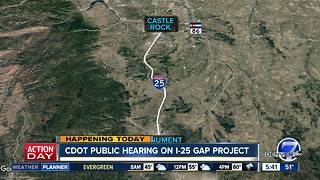 CDOT public hearing on I-25 Gap project - Video
