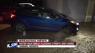 Main break sends water into streets, homes in Normal Heights