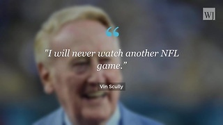 Vin Scully on Anthem Protests: 'I Will Never Watch Another NFL Game Again' - Video