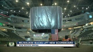 Daktronics scoreboard for the new Milwaukee Bucks arena arrives - Video