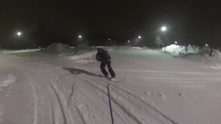 Winter storm allows for blizzard boarding through the streets! - Video